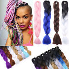 Kanekalon Jumbo Braid Synthetic Fiber Hair Extension Ombre Twist Real Natural FO