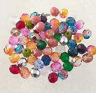 Assorted 6mm Fire Polished Czech Glass Beads VAR2 25/50 Faceted Mix