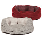 Bobble Deluxe Slumber Plush Dog Puppy Pet Oval Bed Basket Mattress Mat Cushion