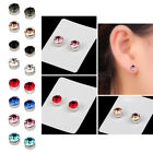 3Pairs Cute Alloy Rhinestone Weight Loss Crystal Jewelry Stud Earrings Gift Tool