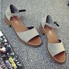 Summer Womens Latin Dance Shoes Med Chunky Heels One Strap Open Toe Sandals Sexy