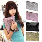 New Fashion Style Women's Sparkle Spangle Clutch Evening Bag Wallet ENE 01
