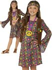 Hippie Girl Costume Girls 1970s Fancy Dress Outfit 70s 60s Hippy Kids
