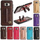 For Samsung S8/S8plus/S7/S6 Edge Leather Stand Credit Card Shockproof Case Cover
