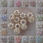 h2023-2047 Wholesale Big Hole Czech Crystal Rhinestone Pave Rondelle Spacer Bead