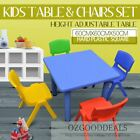 60CM Kids Square Toddler Activity Study Dining Playing Table Desk & 4 Chairs