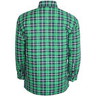 Mens Flannel Plain Thick Long Sleeve Casual Smart Work Shirt Double Pocket
