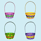 Easter Egg Hunt Woven Wicker Basket - Choose Colour