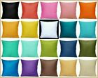 """16x16"""" 100% Cotton Soft Solid Color Throw PILLOW COVER Sofa Couch Cushion Case"""