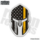 American Subdued Flag Thin Gold Line Spartan Helmet Decal USA Gloss Sticker HVG