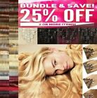 Feel same as Real Hair Extensions CURLY Full Head 8pcs Black Brown Blonde Ginger