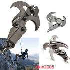 Survival Carabiner Steel Folding Gravity Grappling Hook Climbing Claw Tool Set