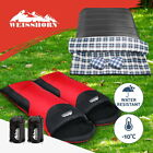 WEISSHORN Camping Envelope Sleeping Bag Double Thermal Tent Hiking Winter -10°C