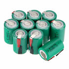 Hot New Green Ni-Cd 4/5 SubC Sub C 1.2V 2200mAh Rechargeable Battery with Tab