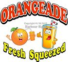 Orangeade Fresh Squeezed DECAL (CHOOSE YOUR SIZE) Food Truck Concession Sticker