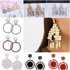 Fashion Women Alloy Crystal Pendant Earrings Jewelry Valentine's Day  Present