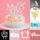 Acrylic Mr &Mrs Bride Groom Wedding Love Cake Topper Party Favors Decoration