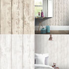Washed Wood Effect Wallpaper Wooden Boards Planks Faux Grain Distressed Arthouse