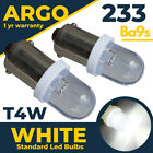 233 T4w Ba9s T11 Mcc Rw233 Super Led Xenon Power White Hid Sidelight Bulbs 12v