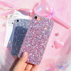 For iPhone X 8 7 Plus Girly Pink Cute Glitter Kitten Protective Phone Case Cover