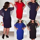 Women Hollow Out Plus Size Summer Casual Solid Party Short Sleeve Dress L-6XL US