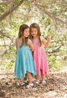 NWT Mimi & Maggie Flower Festival Teal Embroidered Floral Dress sz 2T 3T 4T 5 6