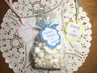 Personalised Ready To Pop Popcorn Baby Shower Favour Tags & bags x10,20,30.40,50