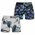 Bjorn Borg Mens 2 Pack Boxers Boxer Underwear Lightweight Print Elasticated