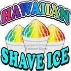 Hawaiian Shave Ice DECAL (Choose Your Size) Concession Food Truck Vinyl Sticker