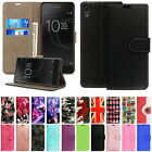 For Sony Xperia XZ3 L1 XA2 Leather Ultra Slim Wallet Flip Shockproof Cover Case