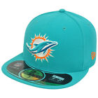 NFL Miami Dolphins 59Fifty 5950 Official On Field Game Fitted Hat Cap Aqua