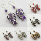 925 Silver GRAPES STYLE Earrings AMETHYST & Choose Other Gemstones Variation See