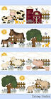 Внешний вид - Farm Nursery Border Decal Wall Art Baby Girl Boy Barnyard Animals Stickers Decor
