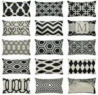 """Vintage Black Home Decor Sofa Couch Bed Throw Pillow Cover Cushion Case 12x20"""""""