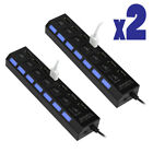 multi port hub - 7-Port USB 2.0 Multi Charger Hub +High Speed Adapter ON/OFF Switch Laptop/PC USA
