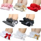 UK Infant Baby Girls Tutu Socks Bow Lace Infant Frilly Sock Cotton Short Socks