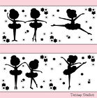 Внешний вид - Ballerina Silhouette Wallpaper Border Wall Art Decal Girl Ballet Dance Stickers