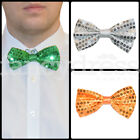 Bow Tie Sequin Sparkly Dickie Dicky Ireland Irish Flag Fancy Dress Accessory NEW