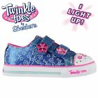 Skechers Kids Girls Twinkle Toes Flower Trainers Infant Canvas Low Padded Ankle