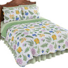 Fern Garden Floral Reversible Lightweight Quilt, by Collections Etc image