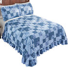 Country Wildflower Patch Plisse Bedspread, by Collections Etc image