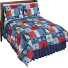 Reversible Nautical Patchwork Comforter Set Bedroom Décor, by Collections Etc image