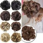 Messy Bun Hair Extensions Hair Piece Bun Pony tail Elastic Scrunchie Blonde FY8