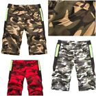 Mens Summer Camo Army Combat Cargo Combat Shorts Casual Half Pant Size M- XXL