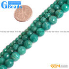 "Natural Green Russian Amazonite Faceted Round Beads Free Shipping 15""4mm 6mm 8mm"