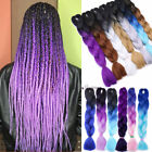 "24"" Long Jumbo Braids Big Box Braiding Hair Extensions Ombre Dreadlocks AU Fnk"
