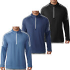"ADIDAS GOLF SWEATER MENS 3-STRIPE QUARTER ZIP PERFORMANCE JUMPER ""NEW 2018"""