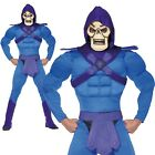 Mens Skeletor Costume He-Man Master Of The Universe Skeleton 1980s Fancy Dress