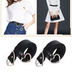 Women Lady Belt Heart Shape Waist Corset Waistband Buckle Dress Belt