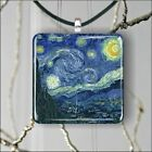 THE STARRY NIGHT VAN GOGH ART PAINTING PENDANT NECKLACE 3 SIZES CHOICE -vhj9Z